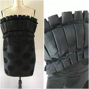Marchesa Notte Strapless Black Cocktail Dress